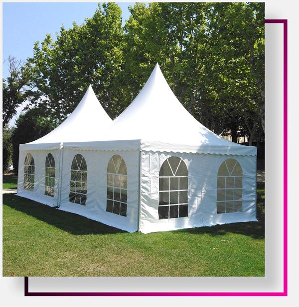 Location de tente de réception dans le Var, le Vaucluse et les Bouches du Rhône
