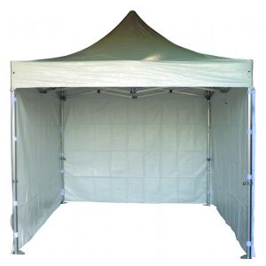 Location Barnum - Stand dépliable en aluminium - 3m x 3m avec baches