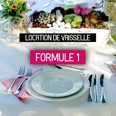 Location de vaisselle formule 1