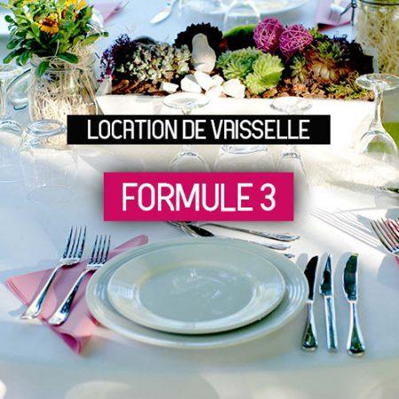 Location de vaisselle formule 3