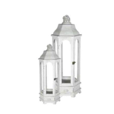 Lanterne bois blanc