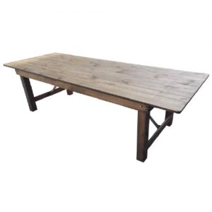 Location table bois rustique