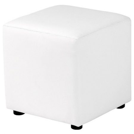Pouf carré Lounge en simili cuir