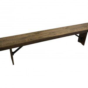 Location banc en bois pliant 213 x 30 cm